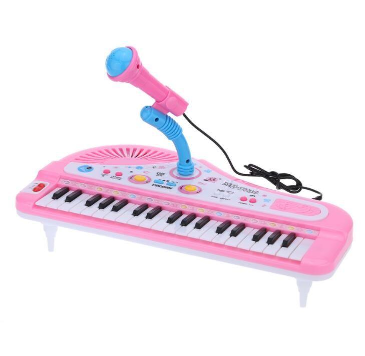 37 Chiavi Electone mini tastiera elettronica giocattolo musicale con pianoforte giocattolo microfono educativo elettronico per i bambini Bambini Babies