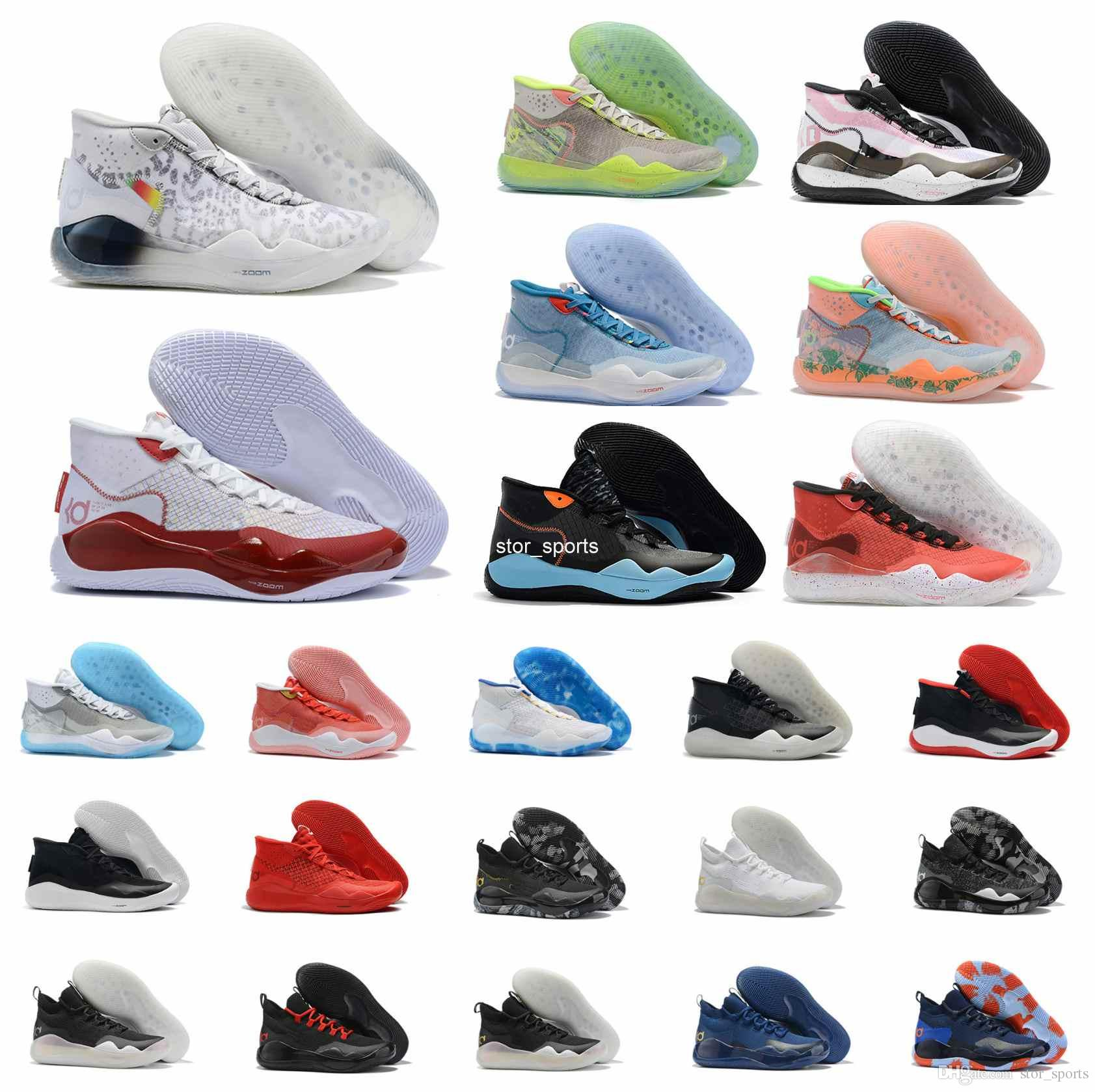 2019 Chaude MVP Kevin Durant KD 12 Anniversaire Universitaire 12 S XII Oreo Hommes Chaussures De Basketball USA Elite KD12 Sport Baskets Taille 40-46