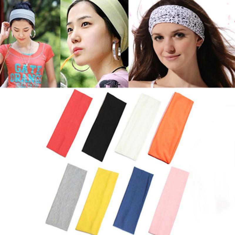 1pcs Yoga Hair Bands Women Sweatband Sports Tennis Nonslip Headband Boho Hairband Elastic Running Headwrap Hair Accessories