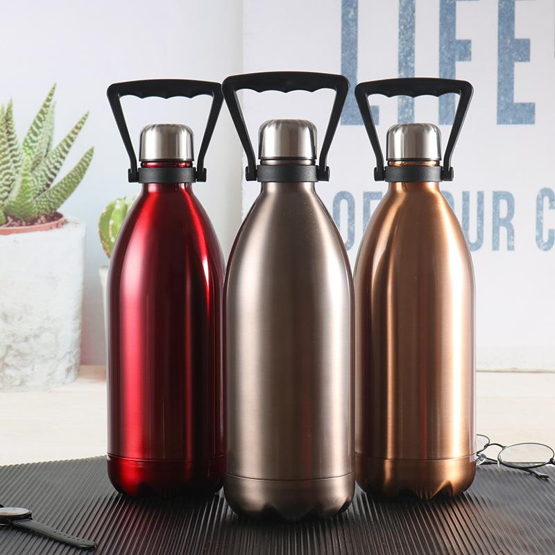Большая емкость двойными стенками из нержавеющей стали изолированные бутылки воды 500мл Cola Bottle Экологию Открытый Портативный