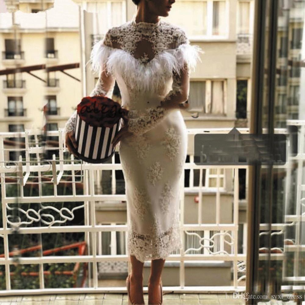 Vestidos elegantes особый случай платья вечерняя одежда плюс размер платья для случаев выпускного вечера платья 2019 абити да коктейль с пером