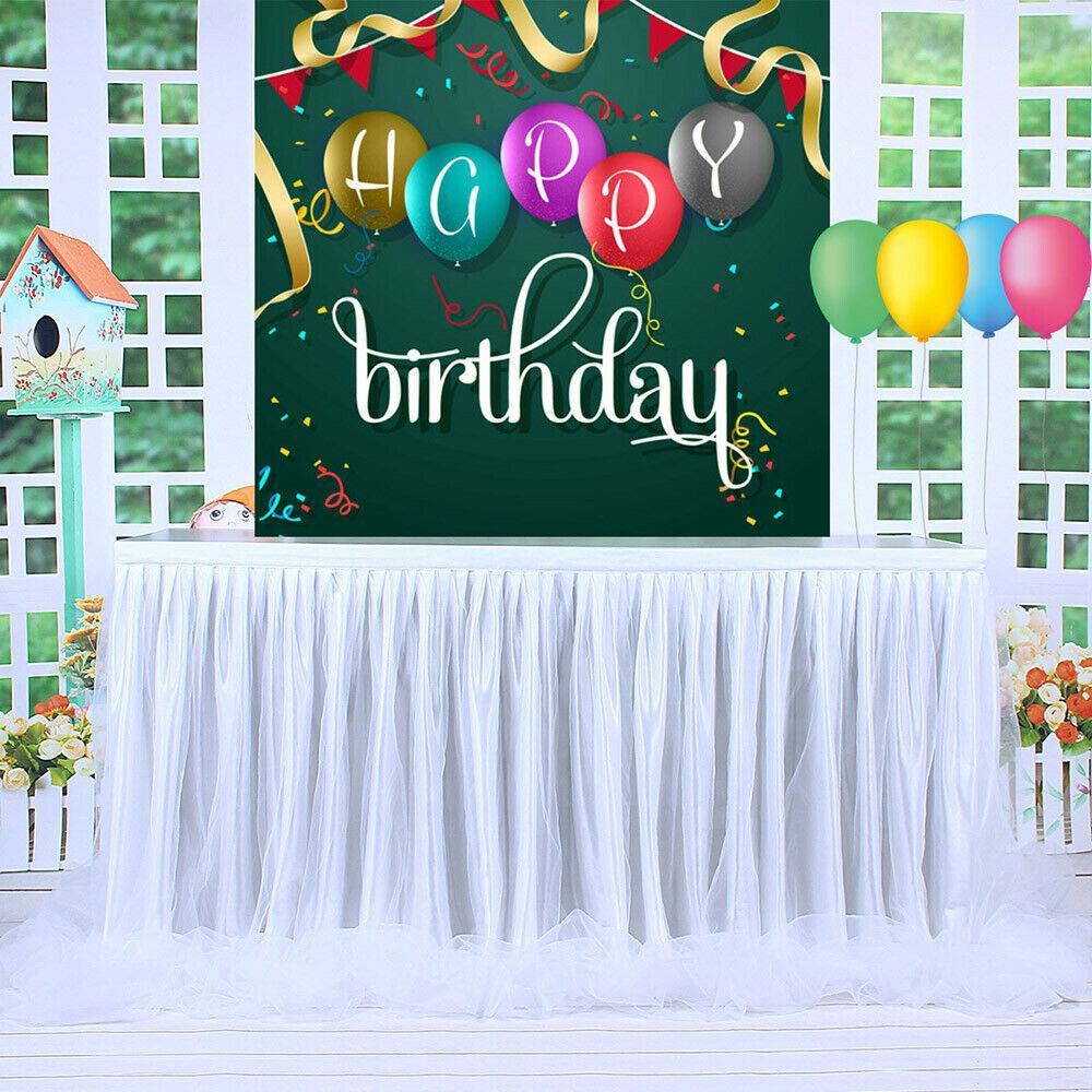 NEW 6ft Wedding Tulle Tutu Table Skirt Party Birthday Festive Baby Shower Decor