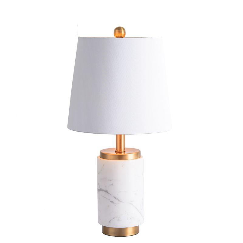 Lámpara de escritorio decorativa del lado chino de la cama de mármol minimalista para la sala de estar del dormitorio Decoración moderna del hogar