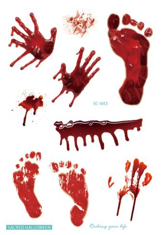 Временная Татуировка Поддельные Татуировки Наклейки Счастливый Хэллоуин Руки Ноги Шрам Флэш Тату Руки Ноги Водонепроницаемый Татуировки Для Мужчин Женщины Дети