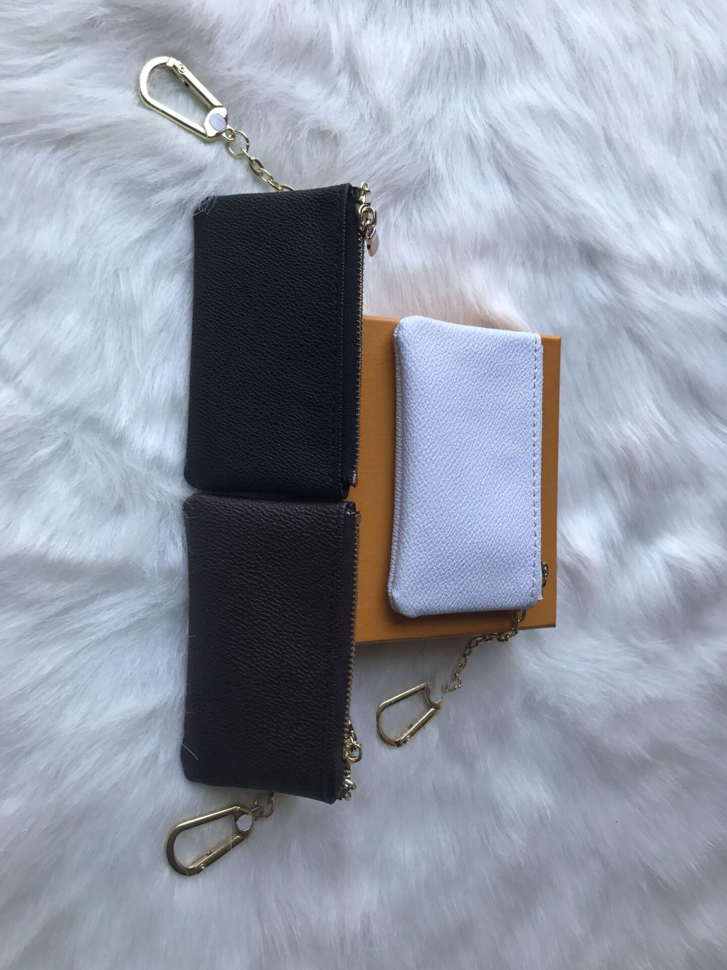 fashionr cuir clé de poche porte-clés détient Damier de haute qualité femmes célèbres designer classiques Porte-monnaie petit sac articles en cuir