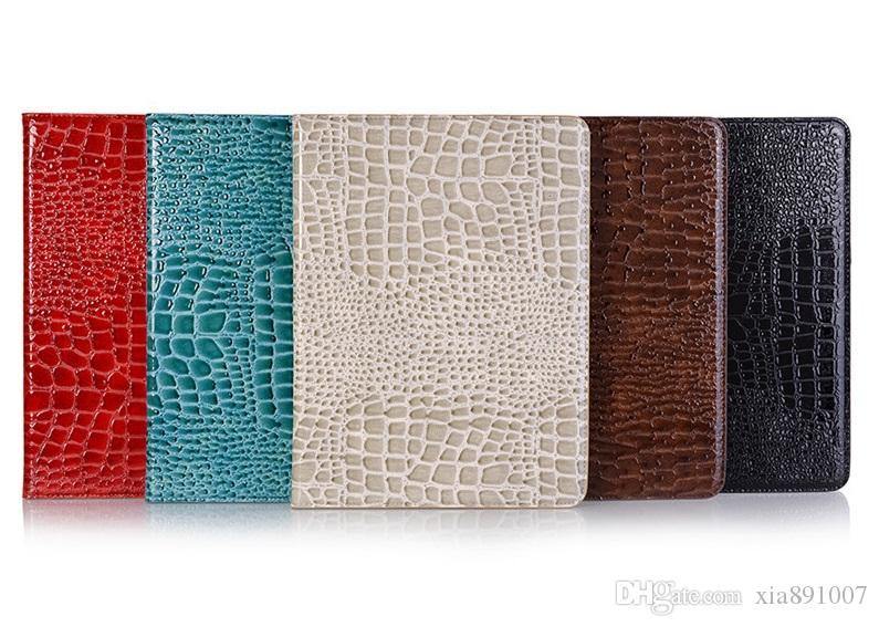 """Дизайнер iPad чехол флип бумажник яркий Крокодил зерна Pu кожаный чехол для планшетных ПК Apple iPad Pro 12.9 """" Air 2/3 ipad 5 6 защитная крышка"""
