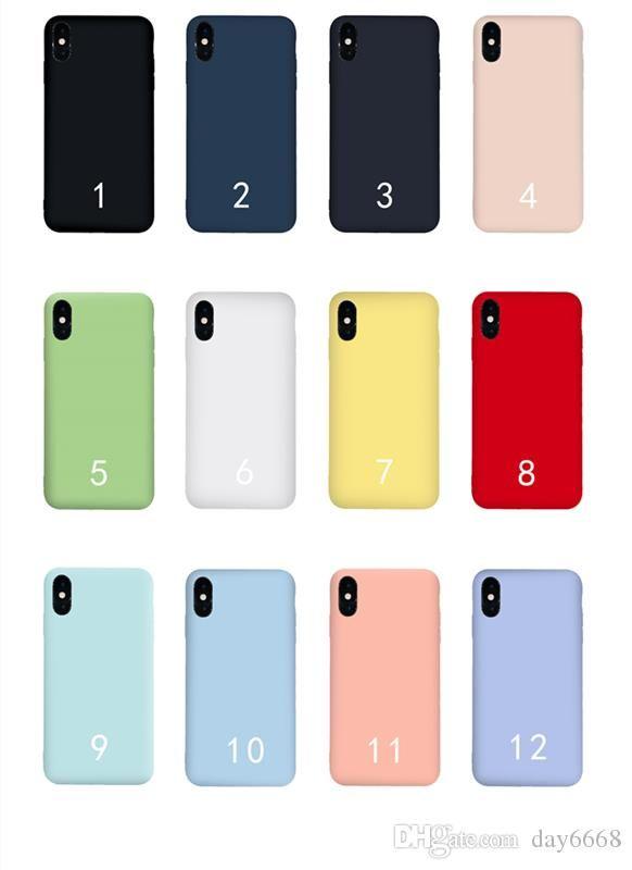 Cas liquide pur silicone de qualité supérieure Offical pour iPhone 11 11Pro 11Pro MAX 6 6Plus 7 7Plus 8 8Plus X XR XS XS MAX