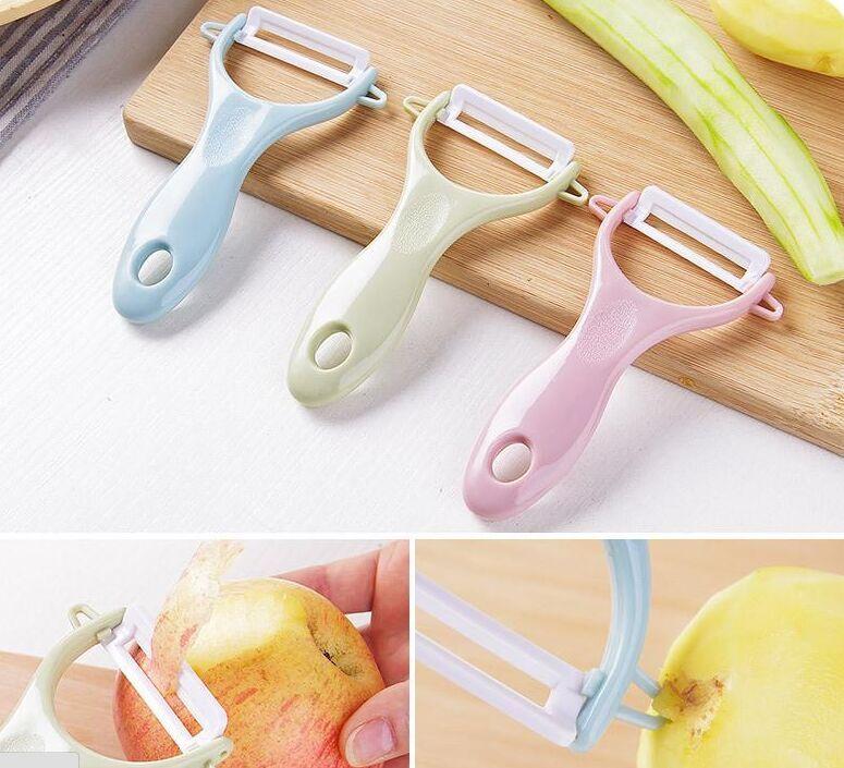 Нож для очистки овощей кухонный многофункциональный строгальный нож овощечистка фруктовый нож для очистки овощей овощечистка творчество красочная керамика