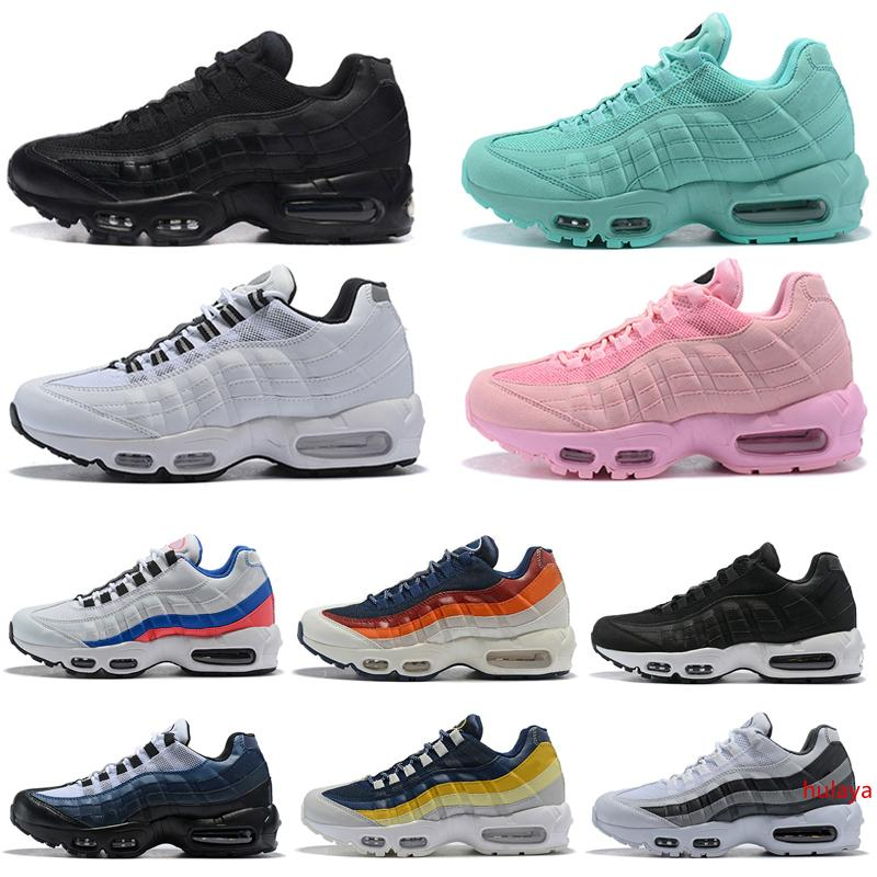 Laser Fuchsia Running shoes for Men Women yellow grey red pink all black white Mens Trainers Sports shoes Sneakers freeshipping
