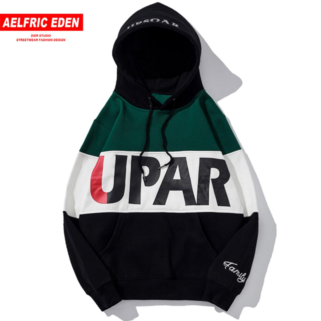 2019 Aelfric Eden Fashion Sweatshirts Men Color Patchwork Pullover Casual Streetwear Letter Printed Hip Hop Hoodies Up16 C19040402 From Linmei0004,
