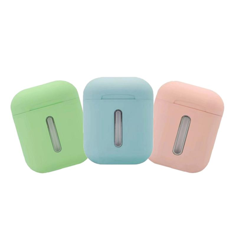 Q8L Tws Wireless Bluetooth Headset Earplug 8D Stereo Earphone with Colorful Lighting charge Type C for smart Phones