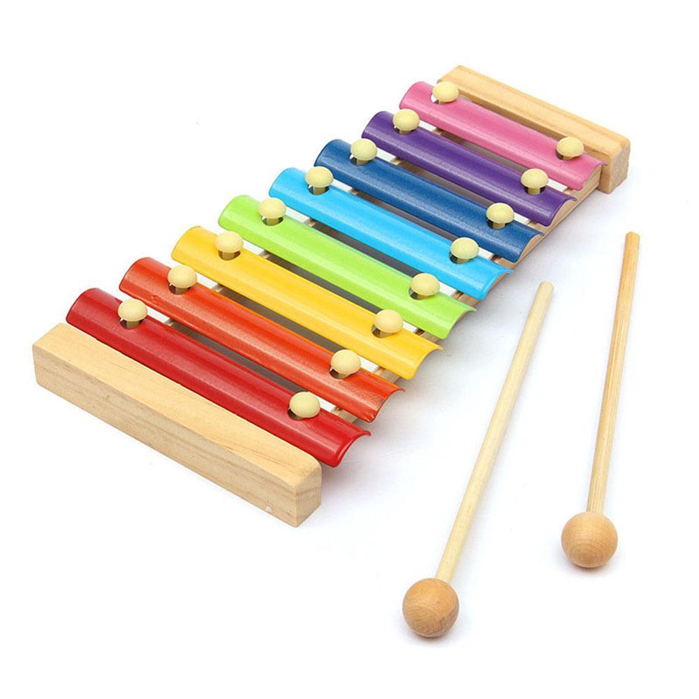 خشبي 8 نغمات متعددة الألوان إكسيليفون صك الخشب الموسيقية اللعب للاطفال اطفال BM88 Y200428