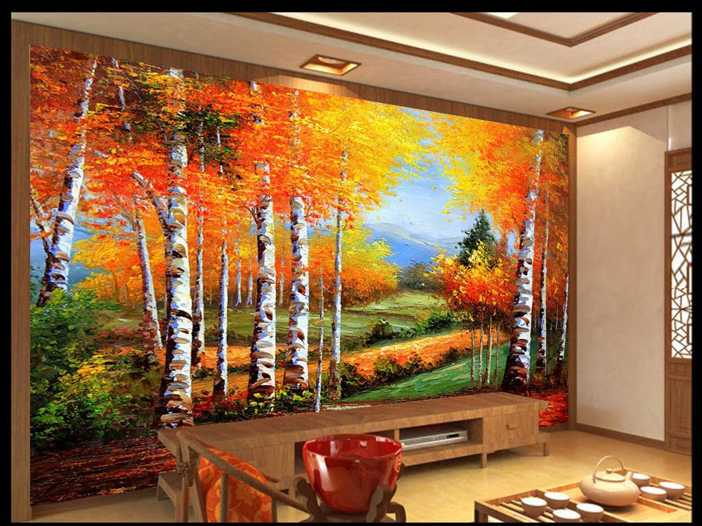 3D oil painting Palace Wall Paper wall Print Decal Wall Deco Indoor wall Mural