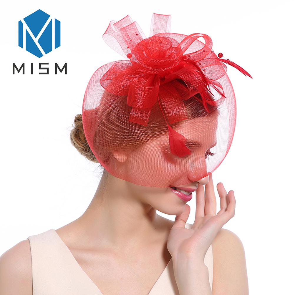 Women/'s Feather /& Flower Fascinator On Clip Ladies Designer Hair Accessories