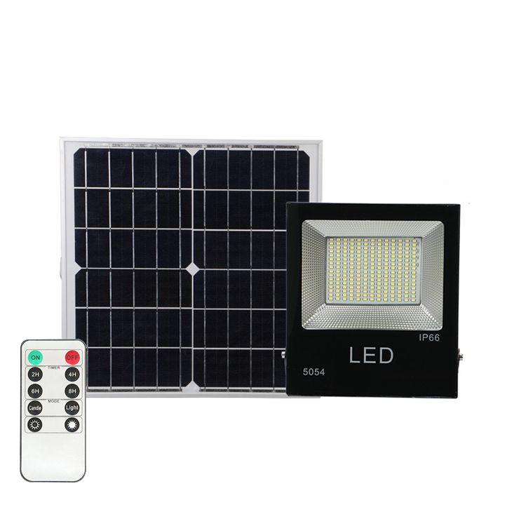 Güneş Projektör çim duvar lambası 100W Açık Taşkın Işıklar IP65 Taşkın Spotlight Güneş Enerjili LED Taşkın Işık Outdoor ışıkları