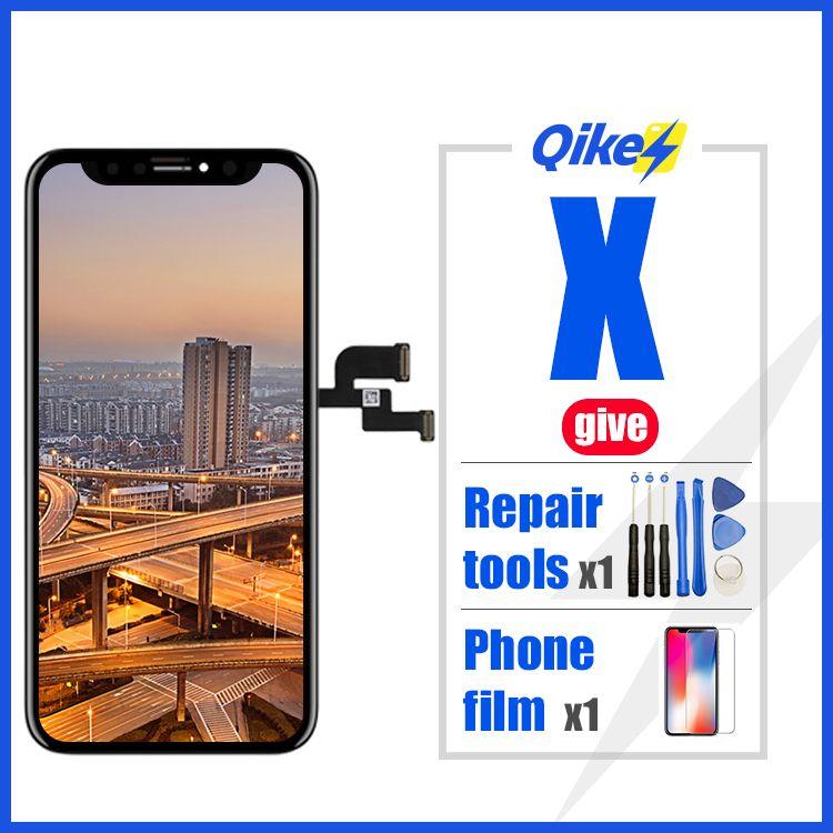 Uno minoristas dar herramientas de reparación f Asamblea digitalizador táctil para el iPhone X OLED XS XR TFT con 3D Sin Dead Pixel pantalla LCD de repuesto