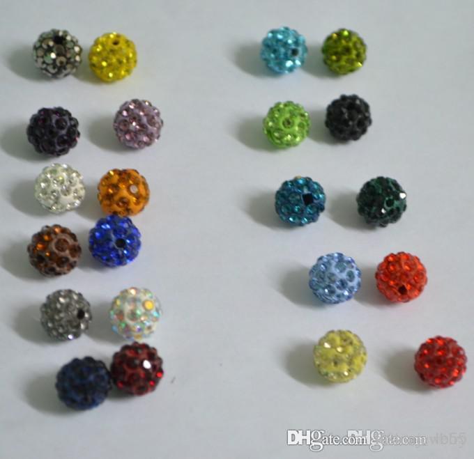 200 unids / lote 10 mm Color mezclado Micro Pave CZ Disco Disco Crystal Crystal Bead Bracelet Necklace Beads DIY. venta! lote mixto!