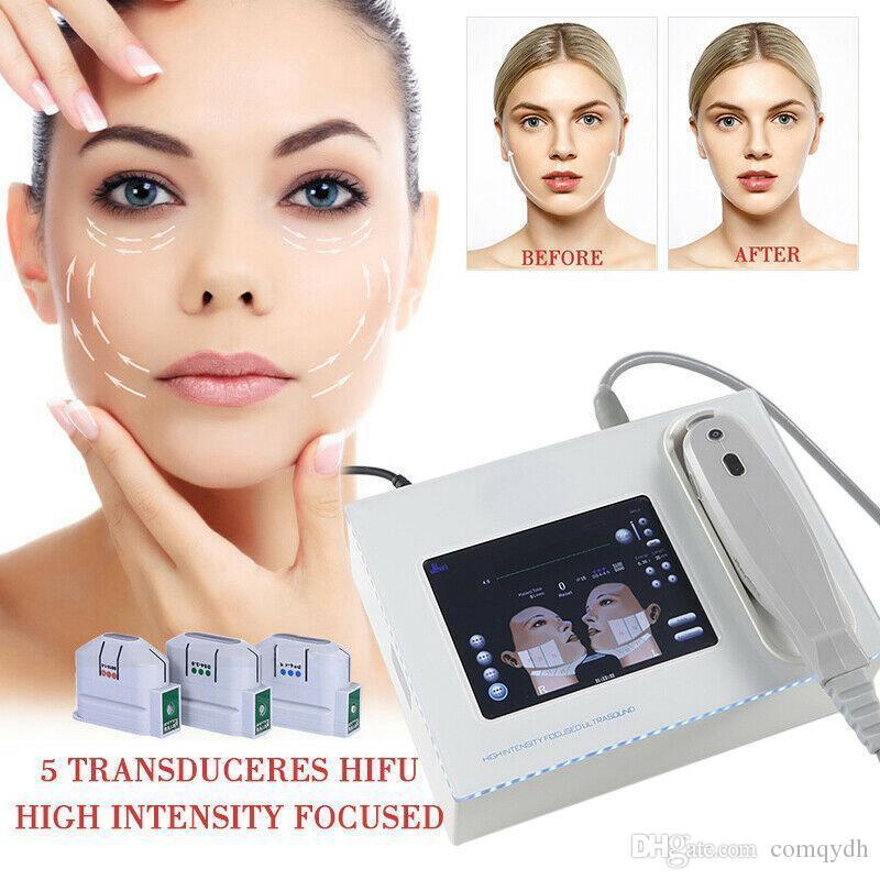 NEW portable HIFU Maschine 10000 Shots hohe Intensität fokussierter Ultraschall HIFU Facelifting Körperhaut Hubmaschine Falten entfernen Schönheit