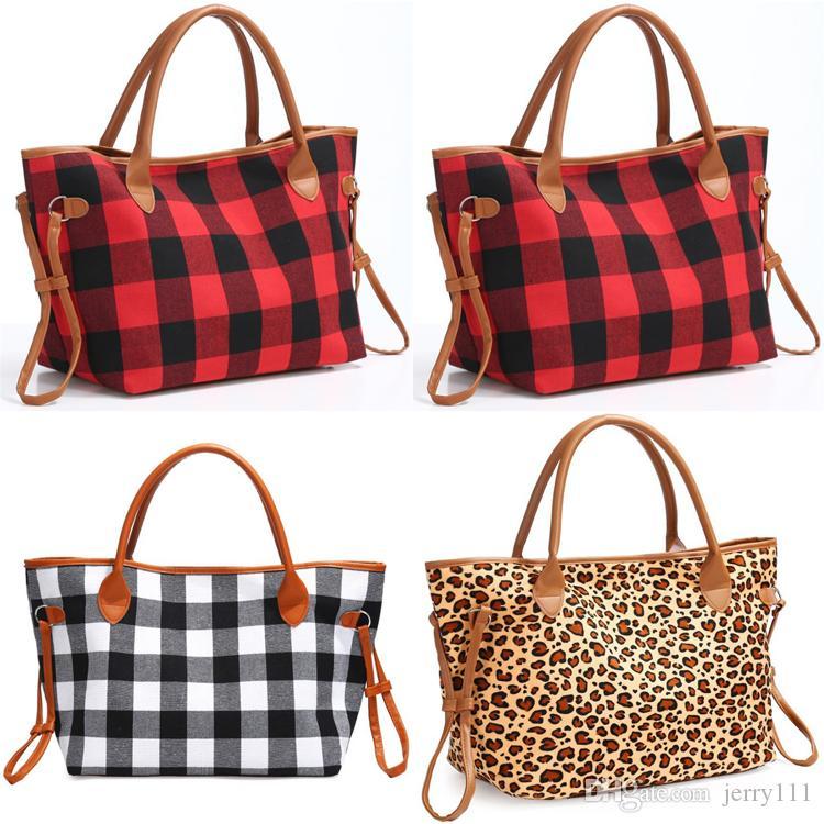 Buffalo Sports Plaid Bag Red Bag Duffle Tote GRANDE VIAGGIO LEOPARD HANDBAG Capacità di controllo Borse Black Crossbody Handbag Borsa a tracolla all'ingrosso JJ Anll