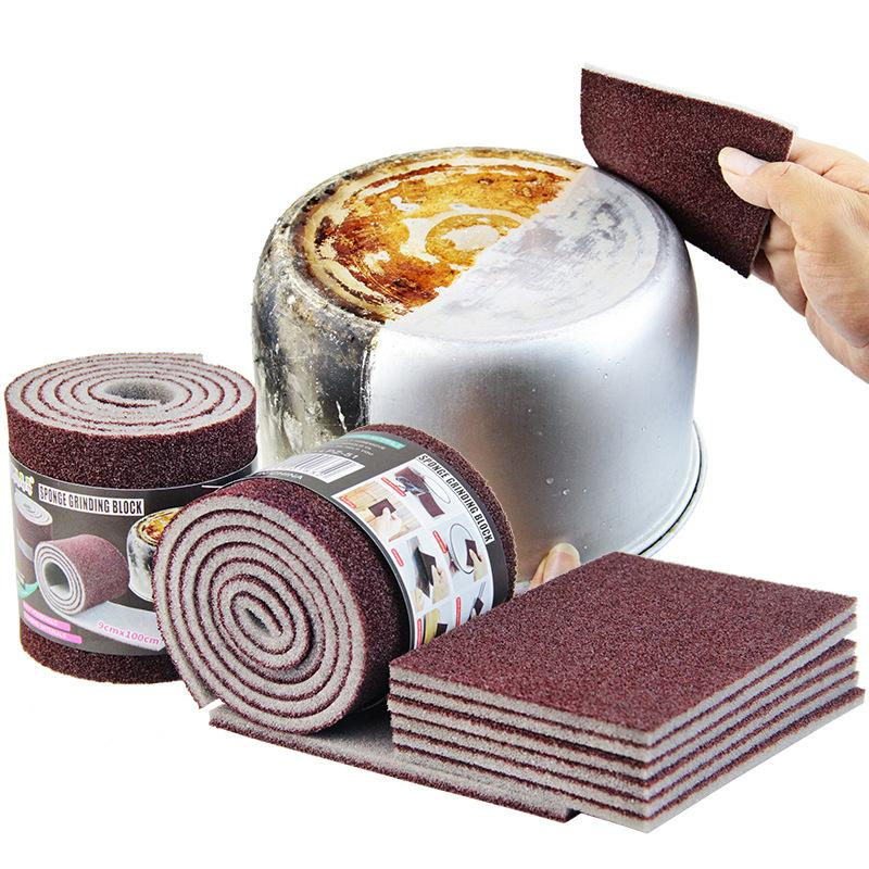 Magia melamina Sponge Carborundum Kitchen Sponge Eraser para Pan Pot Dish Itens esponjas de cozinha Utensílios de limpeza doméstica
