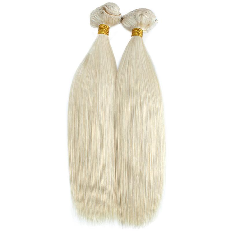 Saç Paketler Sarışın Kahverengi Gri Mavi Pembe Renkli İnsan Saç Atkı üzerinde Saç Uzantıları Düz Klip Kalın Bitiş Klip
