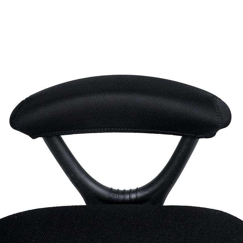 Comwarm impermeável Braço Protector tampa cor sólida preto caso do computador de escritório Cadeira de estiramento Tampa Desk braço Pads 1 par