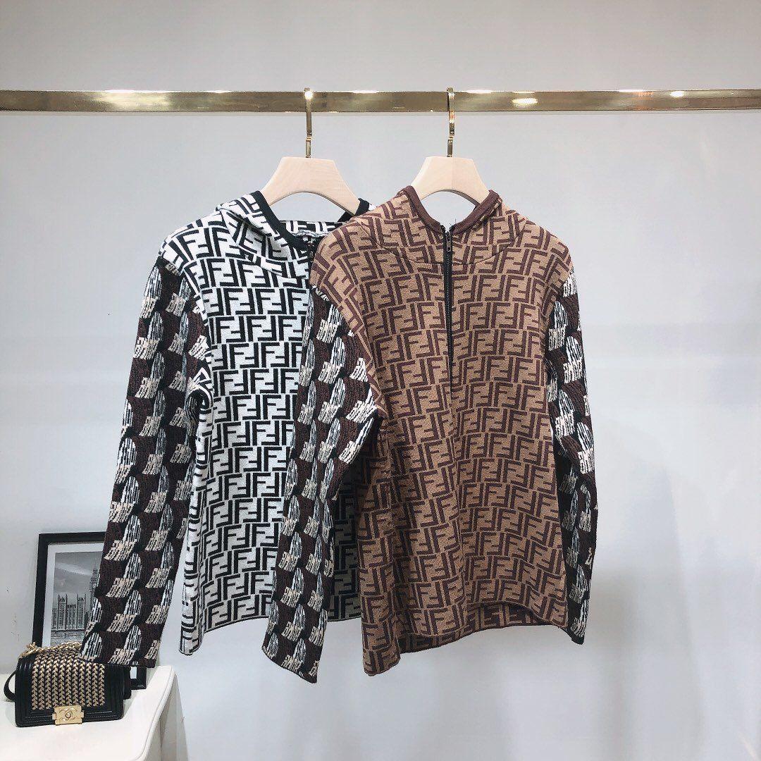 Jacke Marke Frauen Jacquard Colorblock Rundhals Reißverschluss Langarm-Jacke Halten Sie warme und kalte Frauen Tops Frauen Mantel Windjacke kleidet 20