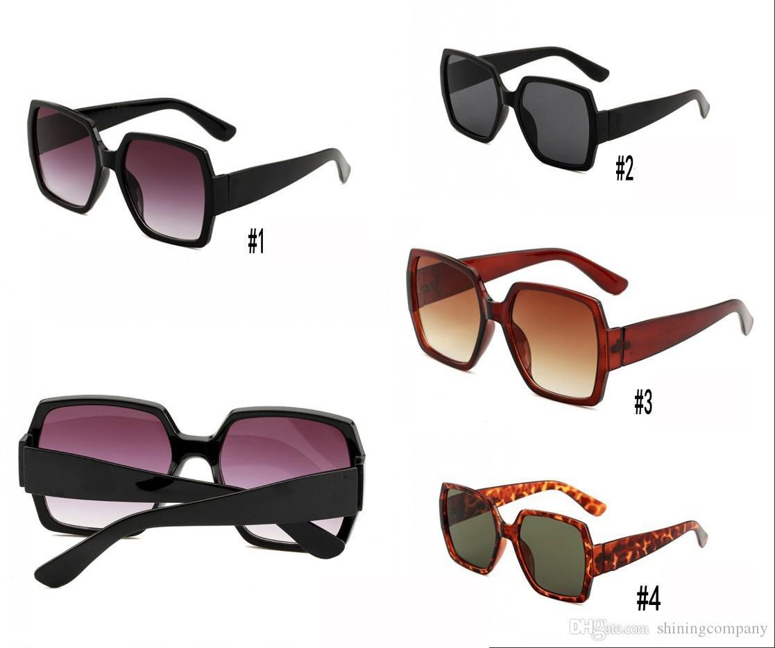 Fashion Summer Donne Big Donne Occhiali da sole Occhiali da sole Occhiali da sole Piazza Beach Frame Eyewear Colors Round 4 UV400 Volto per WCTMX