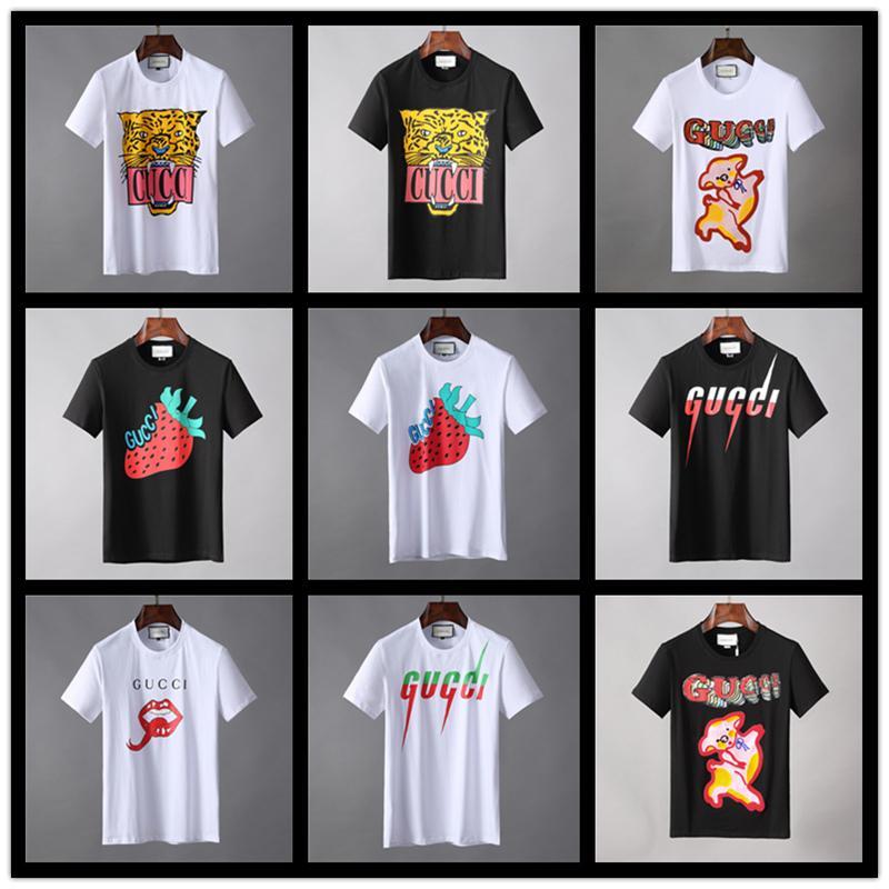 Itália Novo Verão curto t-shirt dos homens famosa marca designer mens camiseta de alta qualidade algodão moda masculina desgaste legal Tshirt