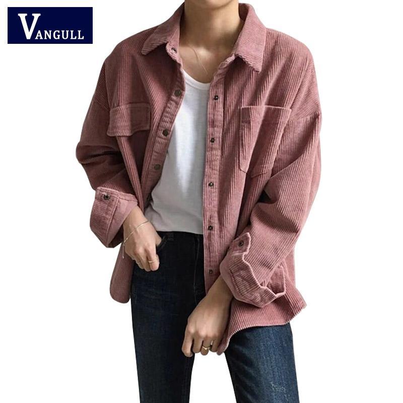 Yeni Harajuku Kadife Ceketler Kadın Kış Sonbahar Mont Artı Boyutu Paltolar Kadın Büyük Sevimli Ceketler Katı Renk Giyim SH190916 Tops
