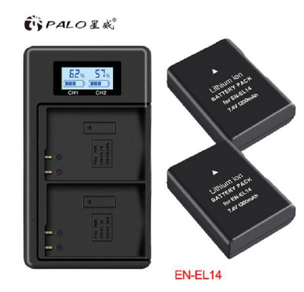 New PALO 1 piezas EN-EL14 cámara digital de la batería de 7,4 V en EL14 batería para Nikon d3400 df D5300 D3100 D5600 /