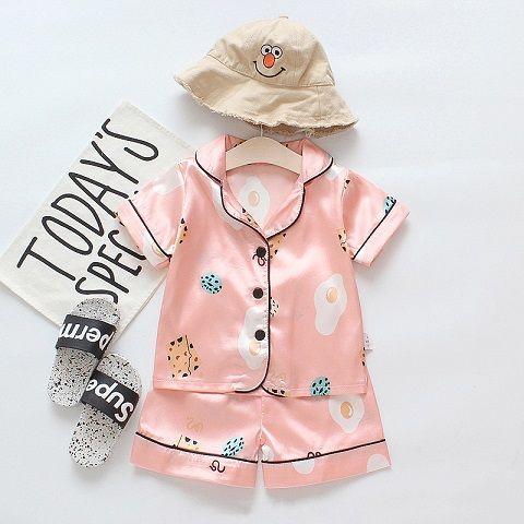 Children Fashion Pajamas Boys Girls Summer Casual Sleepwear Child Brand Cartoon Bear Home Service Fashion Suits Fashion Pajamas 2020 New