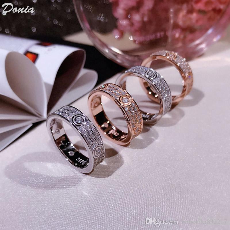 Dona Jewelry Hot Ring Fashion Suit Pieno di anelli zirconi anelli creativi europei e americani per uomini e donne Regali fatti a mano