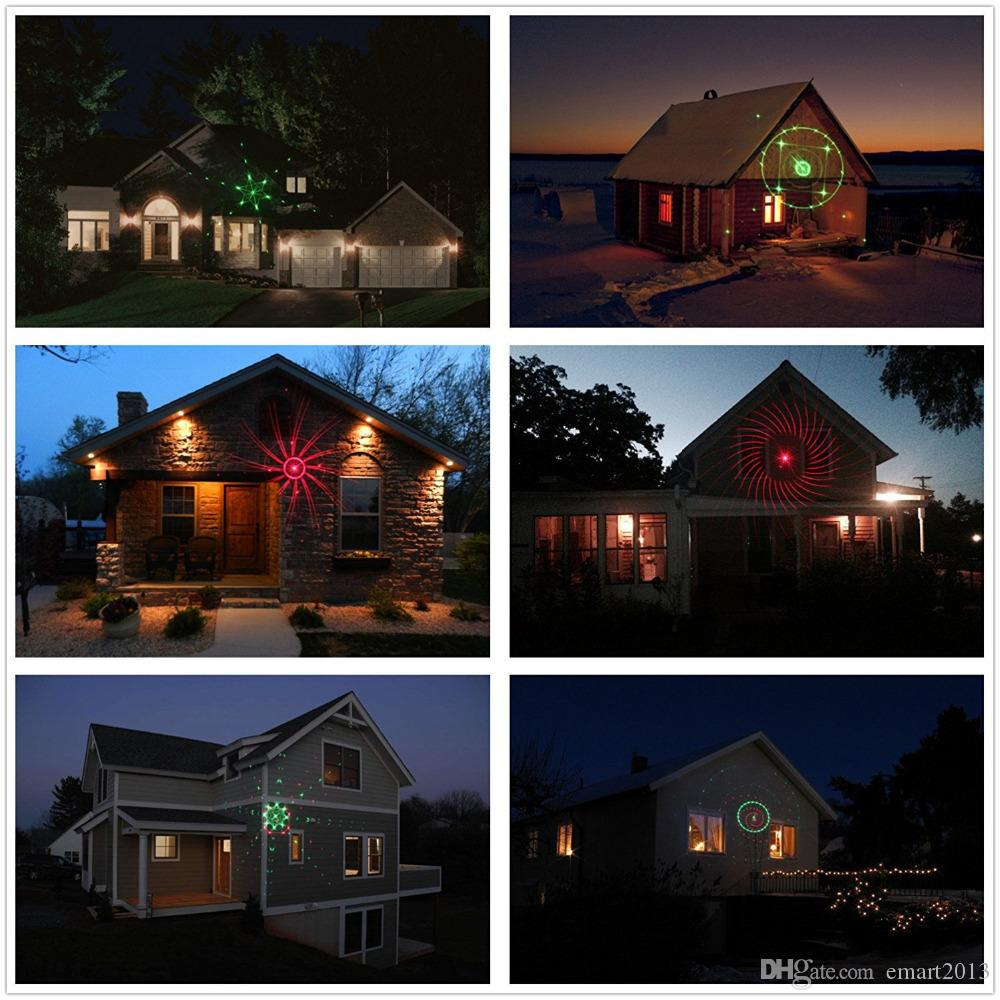 Statische Sternpunkte Laser Projektor Licht Garten Im Freien Wasserdichte Weihnachtsbaum Weihnachten Urlaub Dusche Beleuchtung DJ Diso Party KTV Dekoration