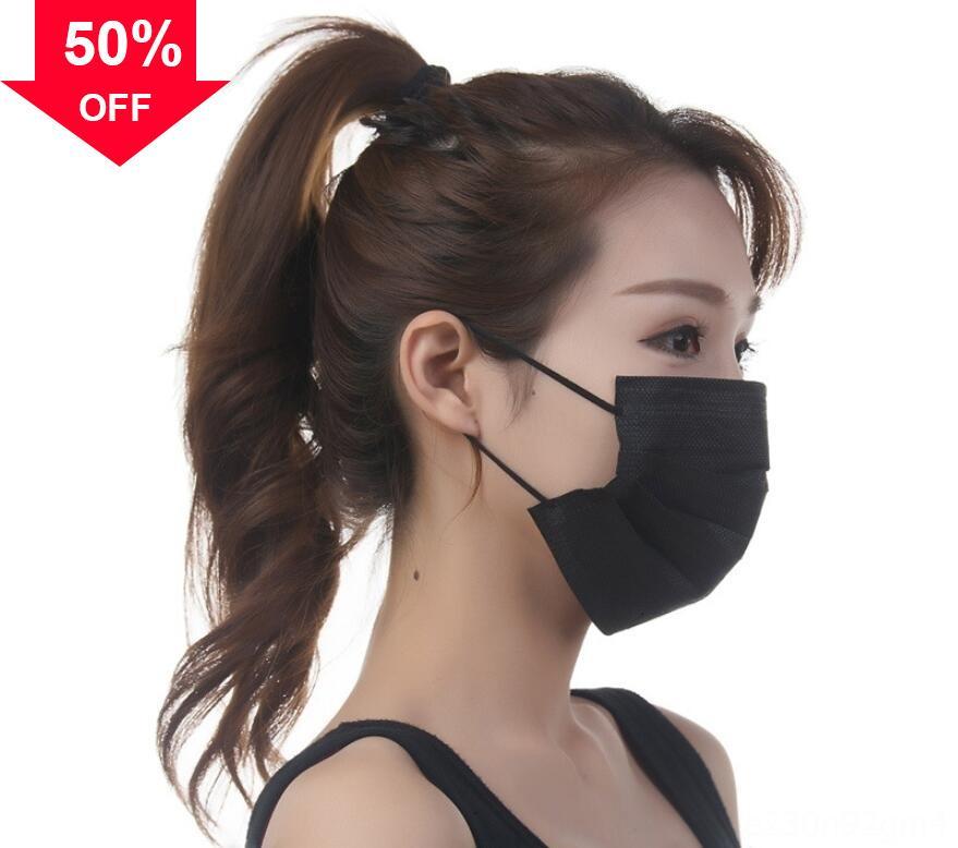lHSkN DHL monouso viso Spesso lusso maschere a 3 strati con Earloops per il salone di uso della casa bocca maschera confortevole