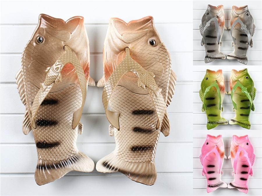 Women Fish Slippers 2020 Summer New Fashion Straps Toe Roman Flat #870
