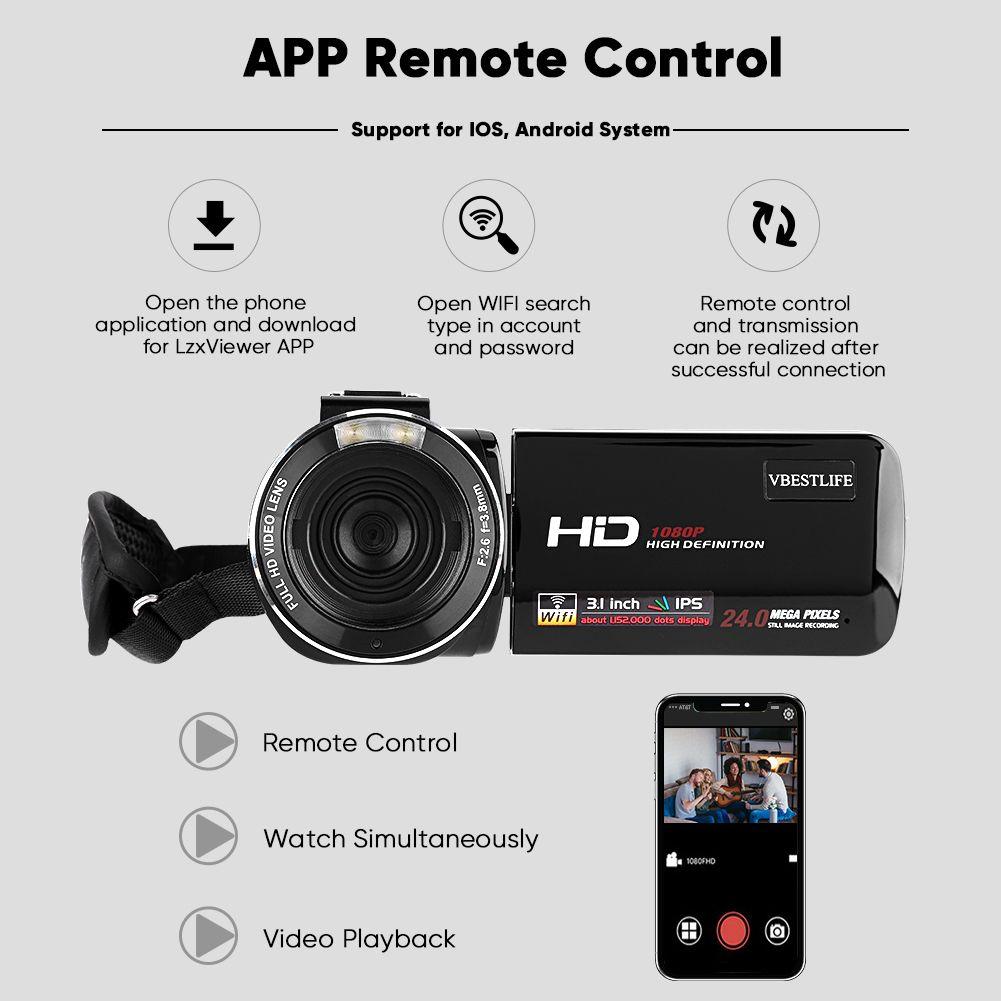 VBESTLIFE HDV Z20 3 0 IPS Screen WIFI 16X Digital Zoom 1080P DV Camera 2019  New Handy Cam Video Camcorder From Ingemar, $171 38| DHgate Com