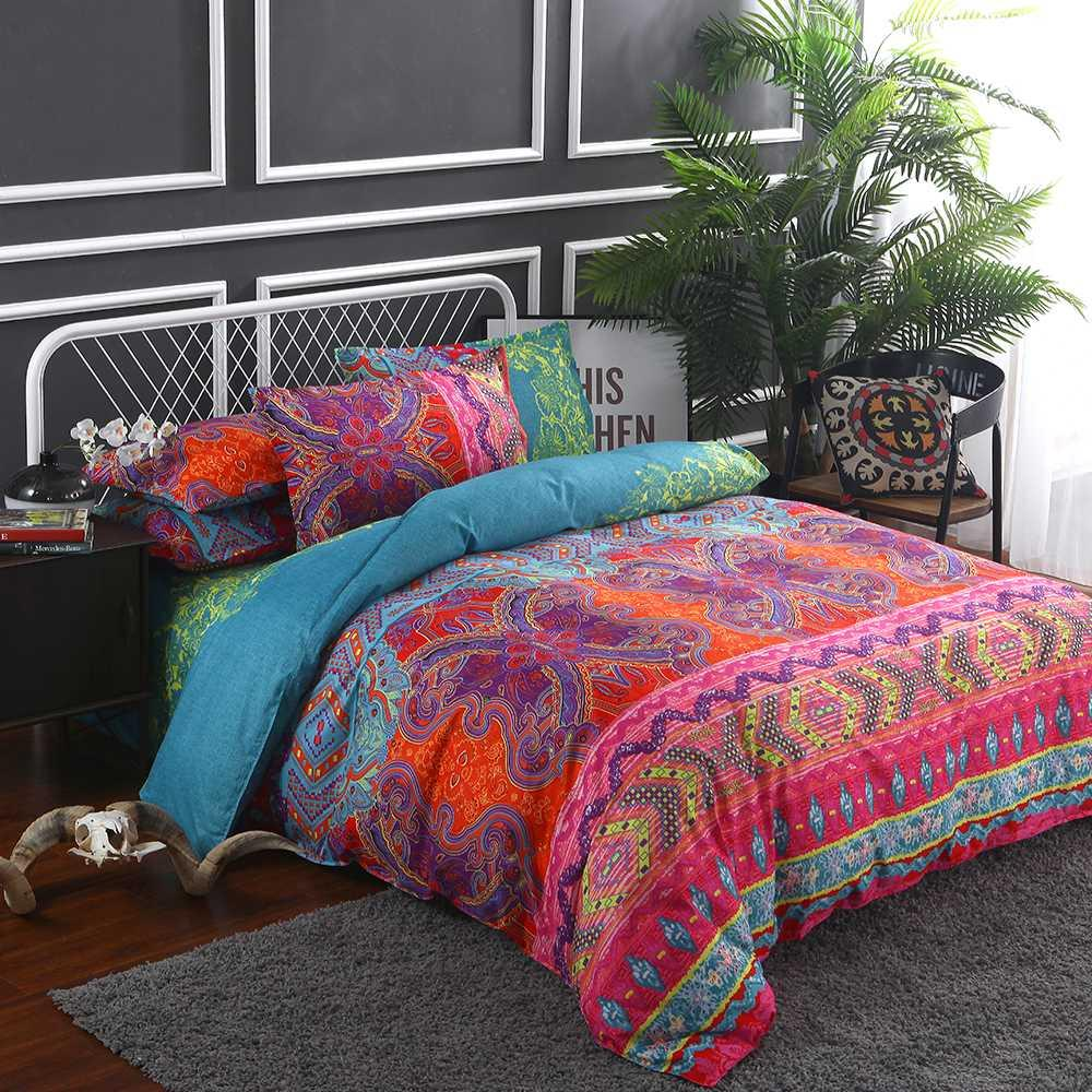 Duvet Quilt Cover Bedding Set Single Double Queen King Size With Pillow Case