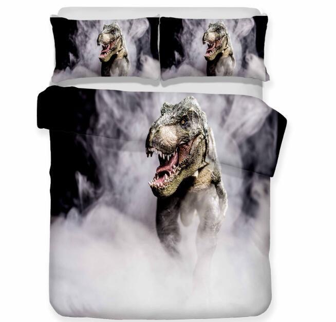 3D Dinosaur Bedding Set Dinosaur Print Duvet Cover Set Bedclothes with Pillowcase Bed Set for Children