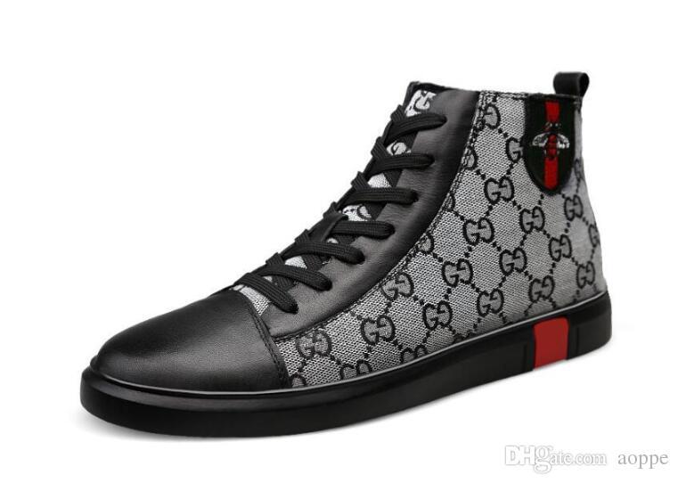 Мужская роскошная мода панк хип-хоп пчелы высокие топы мокасины повседневная обувь на плоской подошве 2019 Мужское платье свадебные выпускные туфли мокасины zapatos hombre 404