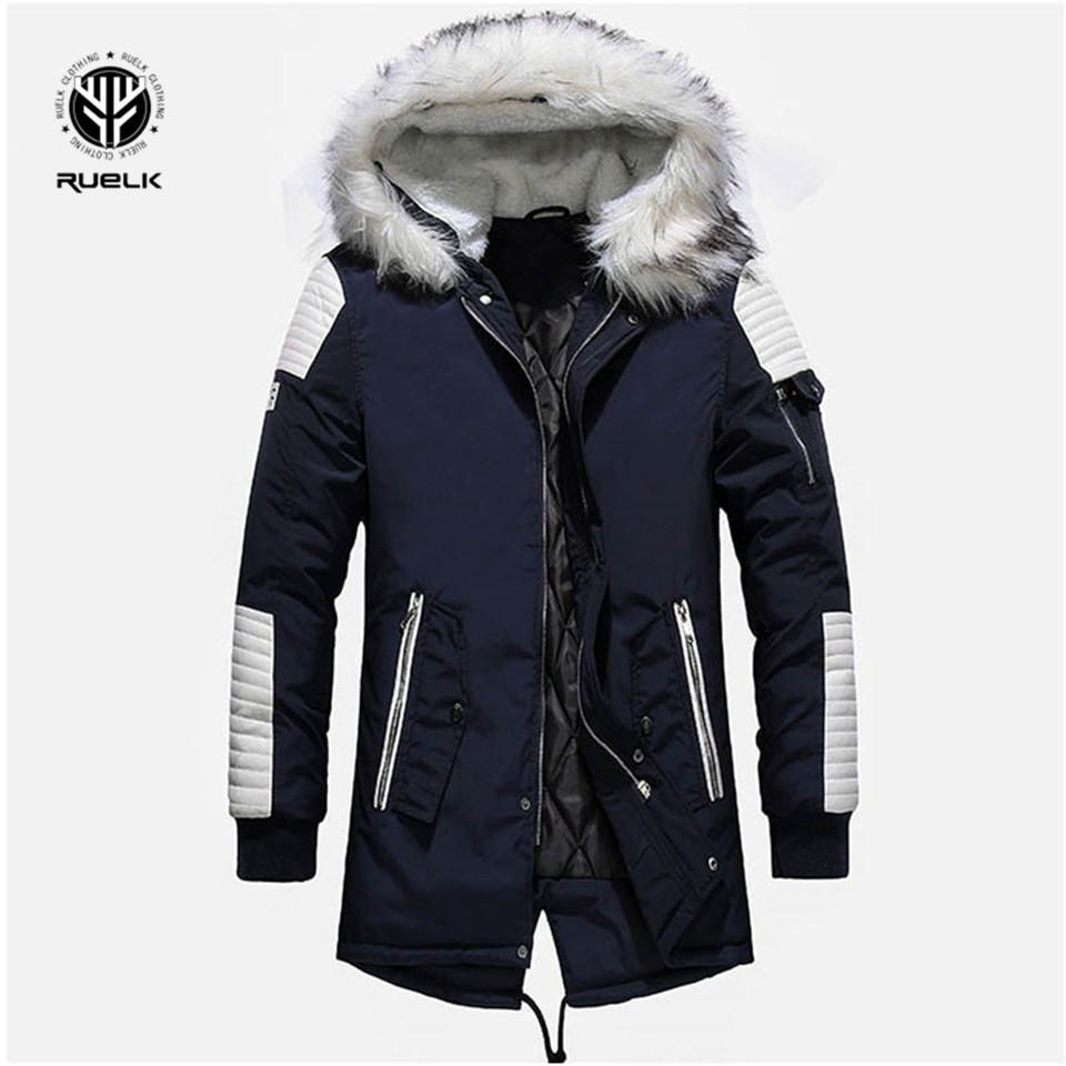 Brand New Winterjacke Herren verdicken warme Parkas beiläufige lange Outwear mit Kapuze Kragen Jacken und Mäntel Männer veste homme Großhandel CJ191129