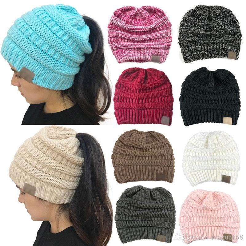 10 Colors Fashion Womens Knitted Hat Wool Beanie Winter Outdoor Warm Fitted Hats Fashion Accessories Christmas Gifts