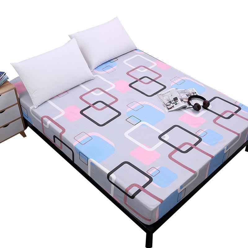 Stampa di letto Coprimaterasso Coprimaterasso con elastico impermeabile materasso del rilievo della protezione Bed Bug Proof Topper morbido materasso e biancheria