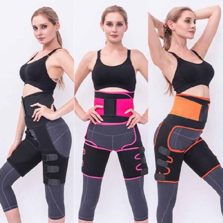 3in1 Body Shaper taille haute jambe Entraîneur Femmes postpartum Ventre Minceur Sous-vêtements amincissants Modeling Sangle Tummy Fitness Ceinture Corset Entraîneur