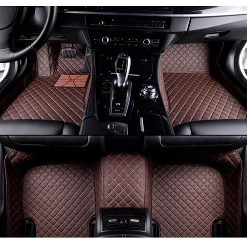 Custom Car Floor Mats for Dodge Journey 7seat 2009-2017 Waterproof Non-Slip Leather Carpets Automotive Interior Accessories 1 Set Black