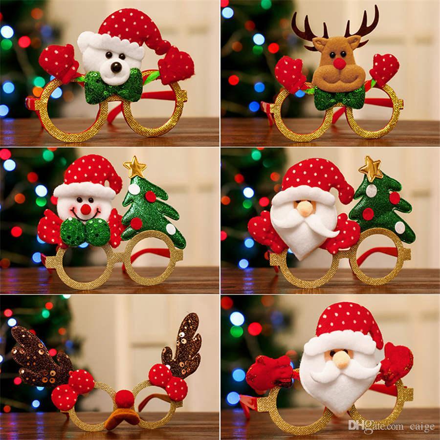 1PCS Lunettes de Noël Père Noël cerf bonhomme de neige lunettes pour les enfants Cadre Cadeaux Nouvel An Décorations de Noël Décorations
