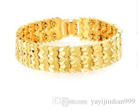 fashipn 3 adet / grup sarı altın bilezik dolgulu up-market hediye ücretsiz kargo 15.5tt