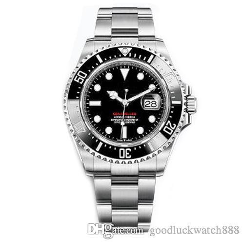 NOUVEAU Mens Watch 43mm Lunette en céramique rouge 18ct Or Sea-Dweller en acier inoxydable 126603 montres de luxe automatiques d'hommes mécaniques concepteur wat