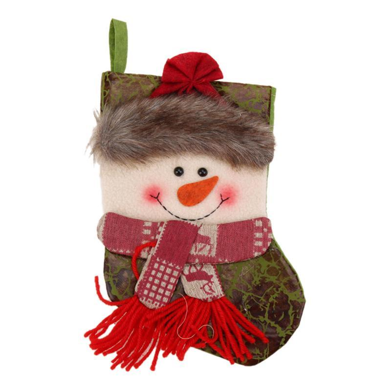 Cute Christmas Stocking Sock Gift Bag Bauble Xmas Tree Decoration Ornaments Decorations Festival Party Ornament Differ Style