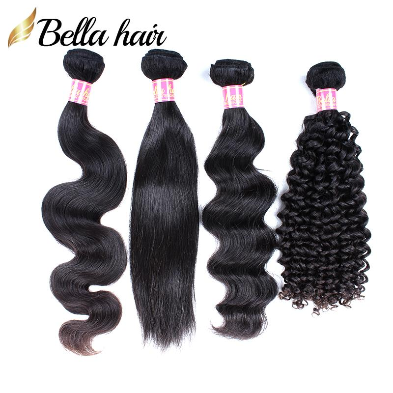 Les cheveux brésiliens tisse des bombes de cheveux humains se tisse frisée vague de corps droite lâche profonde 3pcs extensions de cheveux vierges double trahe